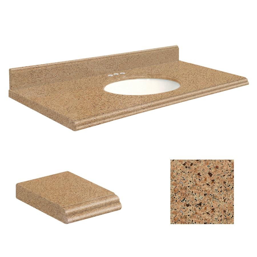 Transolid Umbria Brown Quartz Undermount Single Bathroom Vanity Top (Common: 43-in x 22-in; Actual: 43-in x 22-in)