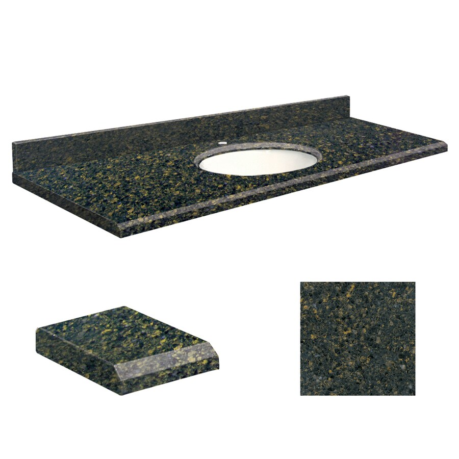 Vanity top common 61 in x 22 in actual 61 in x 22 in at lowes com - Shop Transolid Manchester Square Quartz Undermount Single