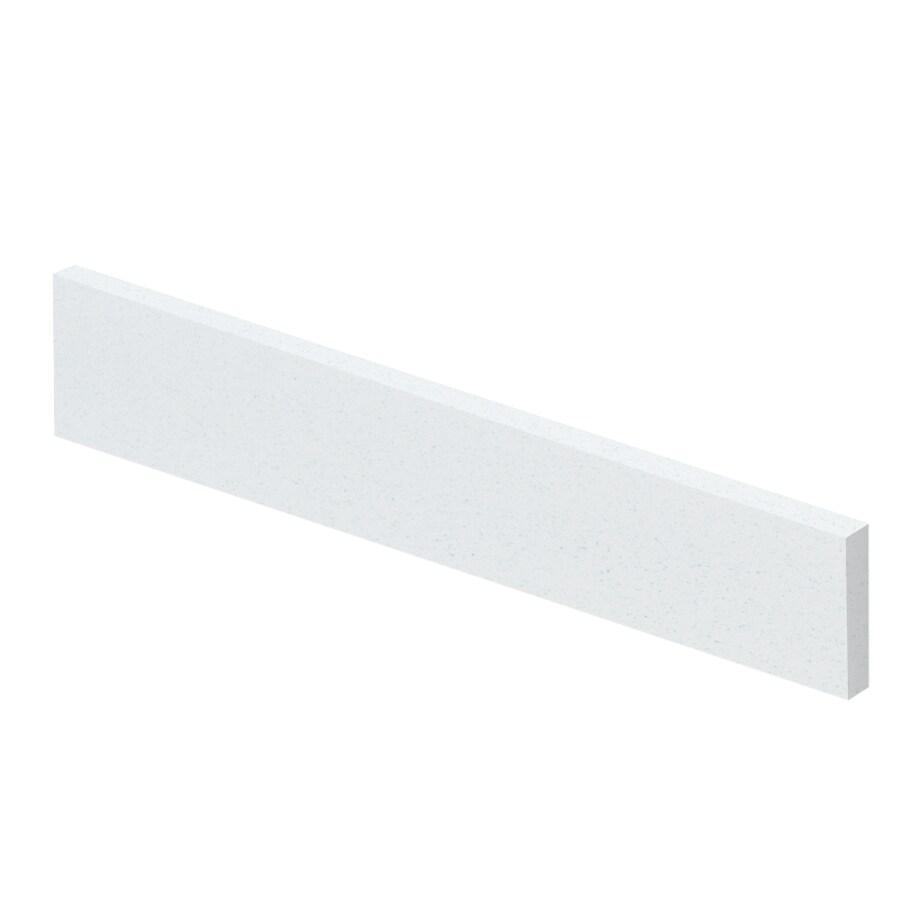 Transolid 419-in L Matrix White Bathroom Side Splash