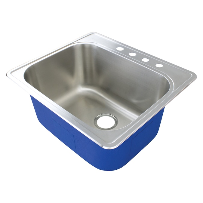 transolid 22 in x 25 in 1 basin stainless undermount laundry sink with drain