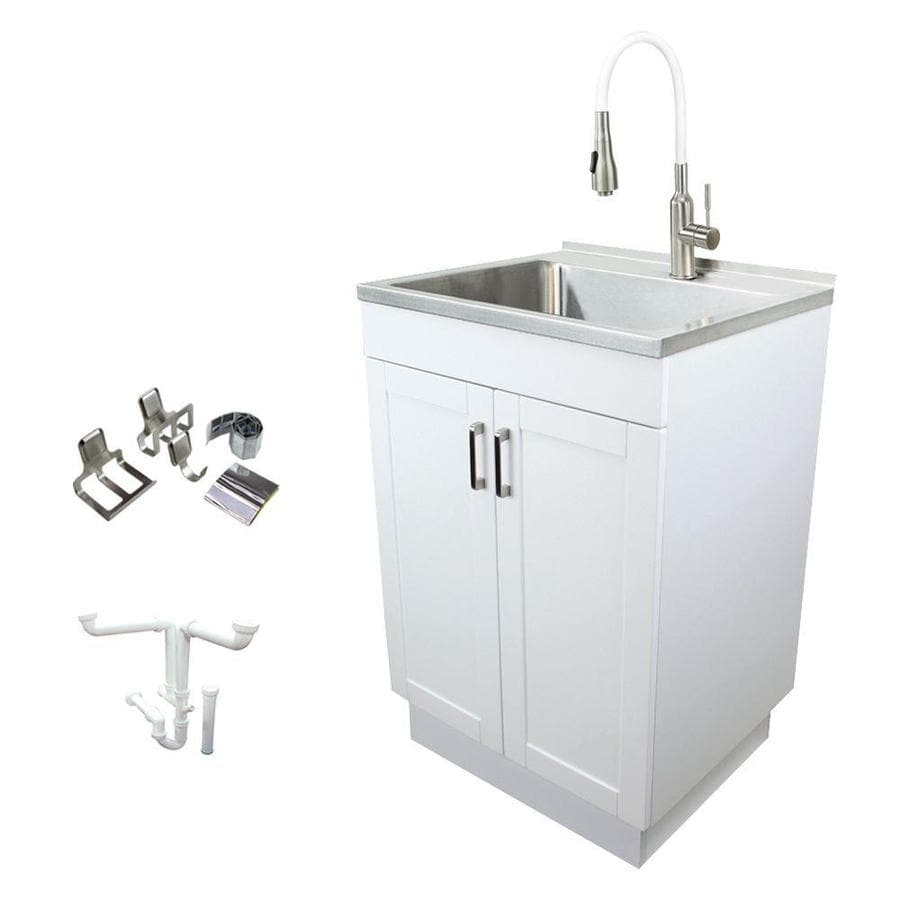 Transolid 23 6 In X 19 7 In 1 Basin White Freestanding