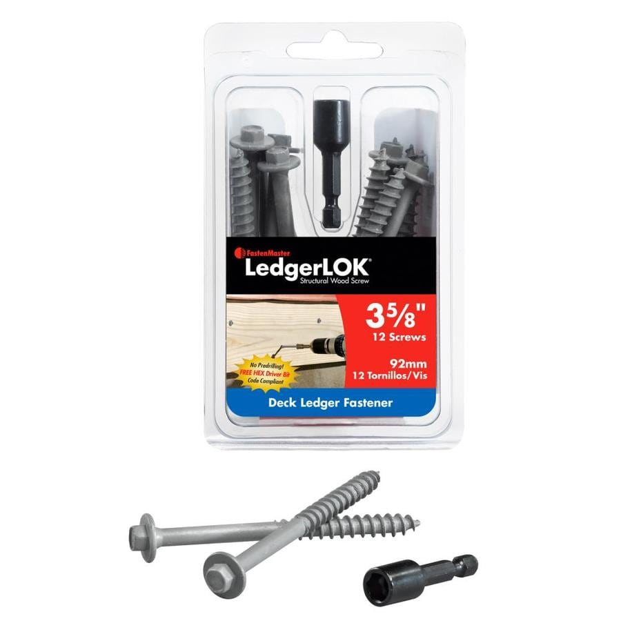 FastenMaster 12-Count 3-5/8-in Structural Wood Screws