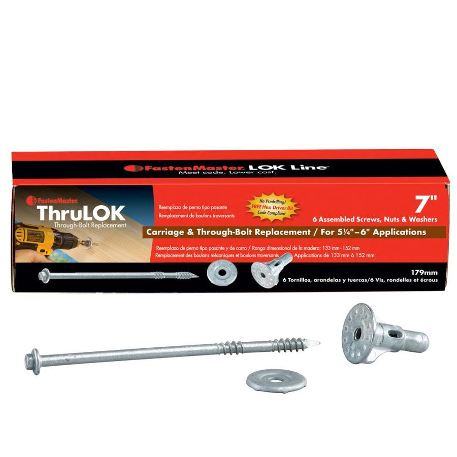 FastenMaster 6 Count #0 to x 7-in Ecoat Hex-Drive Structural Wood Screw