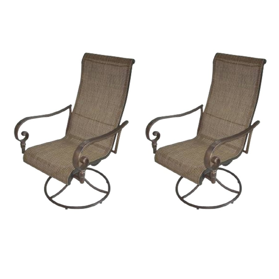 garden treasures beach view aluminum rocking patio dining chair at rh lowes com