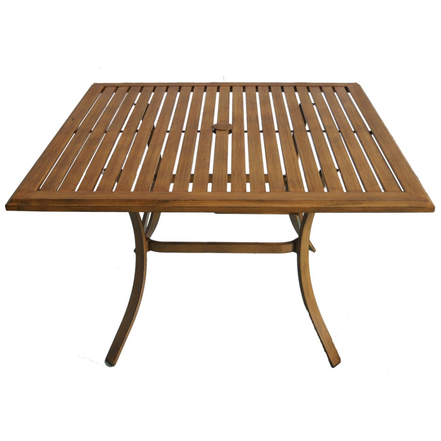 Allen + Roth Colby 45 In X 45 In Aluminum Square Patio Dining Table