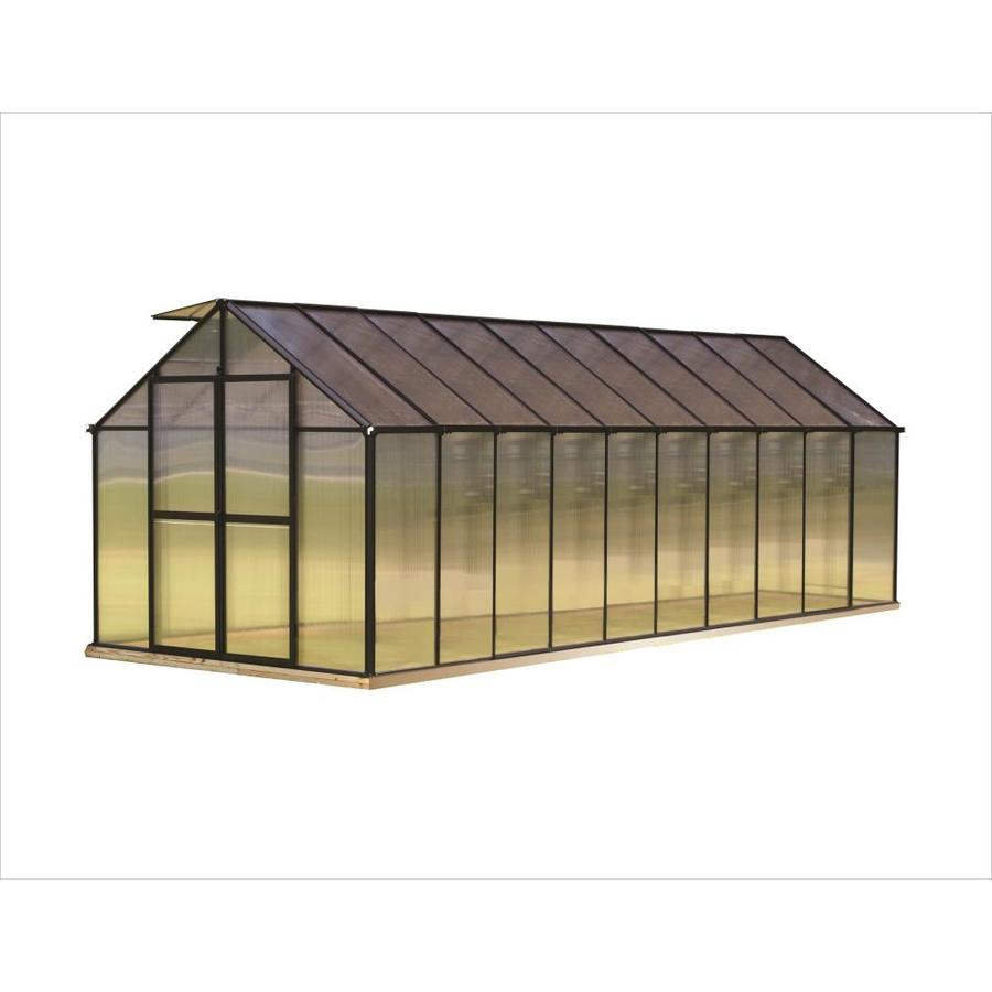 Monticello 20.4-ft L x 8.1-ft W x 7.6-ft H Greenhouse