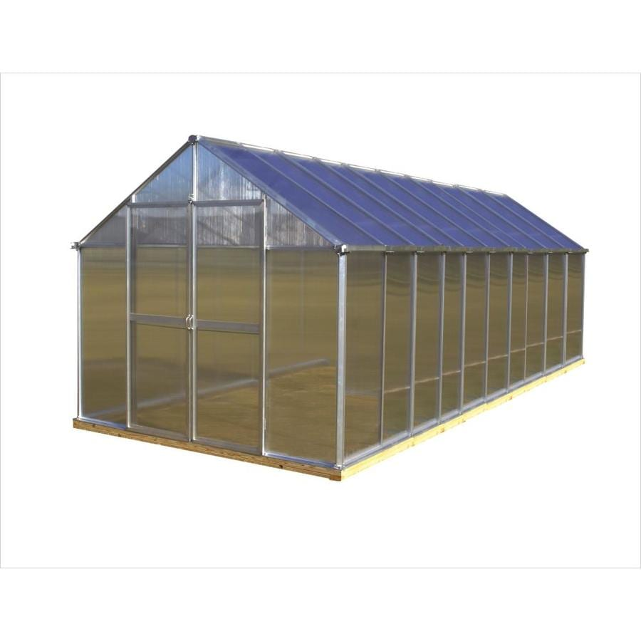 Monticello 20.4-ft L x 8.1-ft W x 7.6-ft H Metal Greenhouse