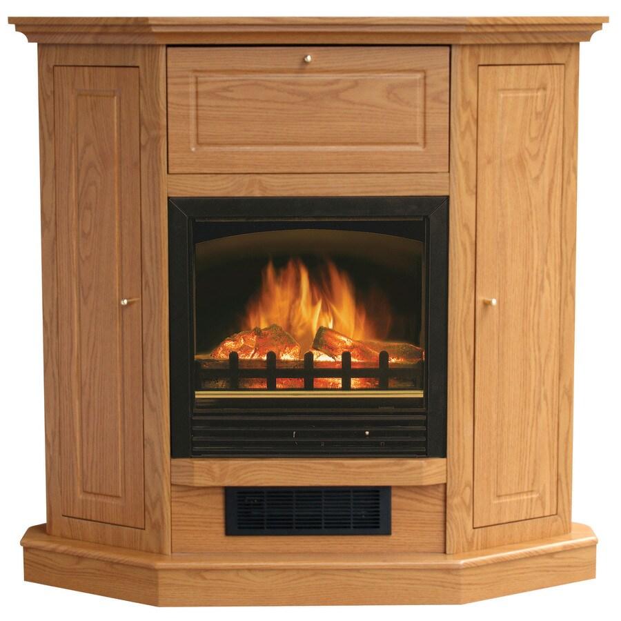 Stay-Warm 39-in Golden Oak Corner Electric Fireplace