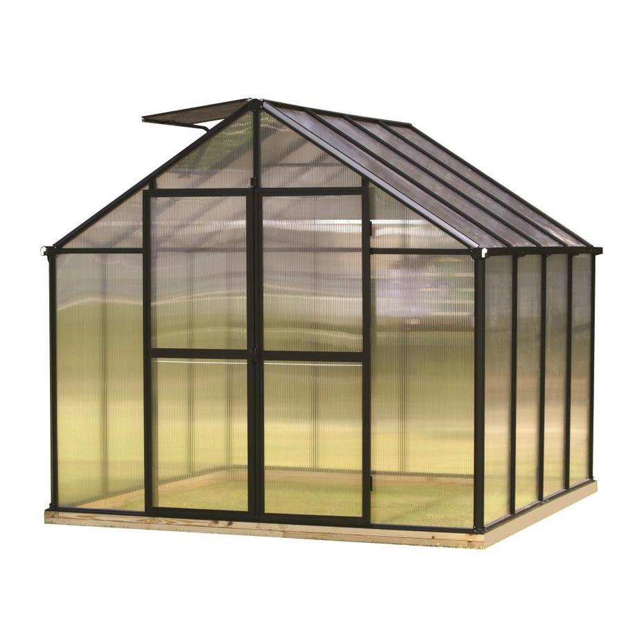 Monticello 8.1-ft L x 8.1-ft W x 7.6-ft H Greenhouse Kit