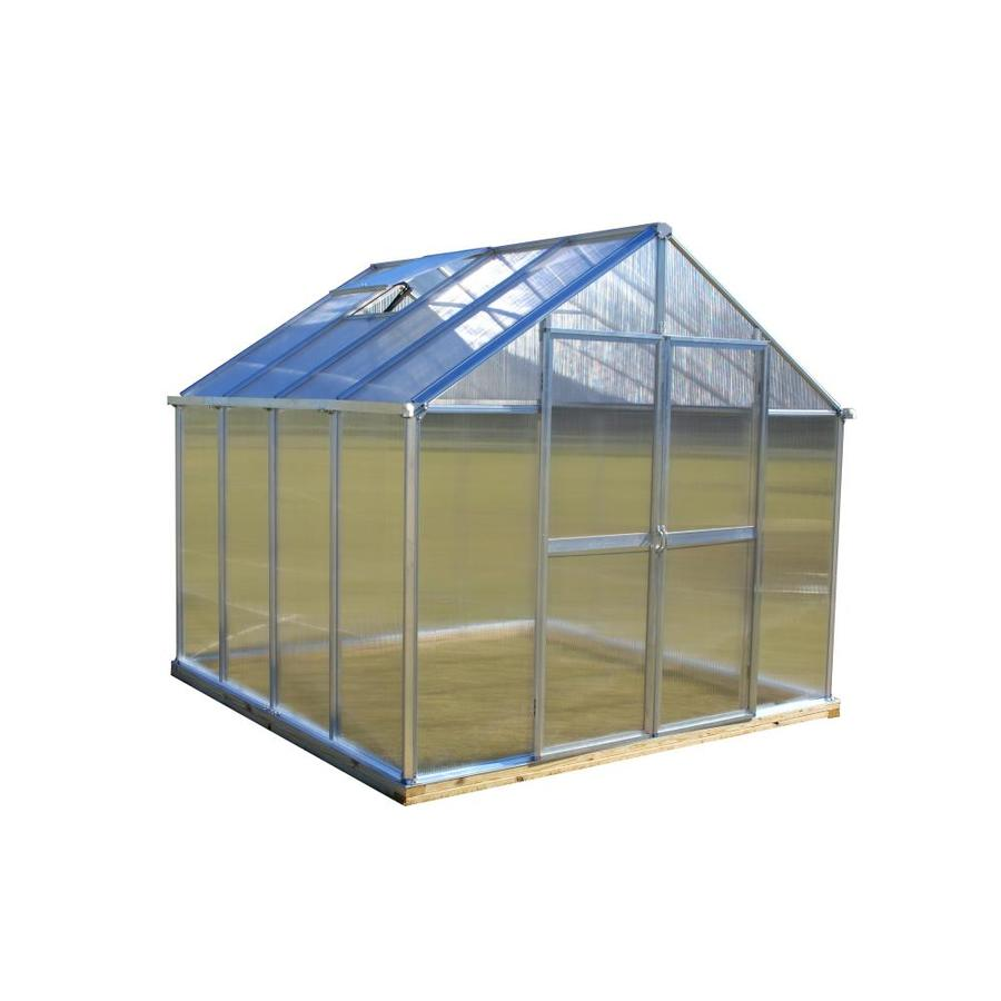 Monticello 8.1-ft L x 8.1-ft W x 7.6-ft H Metal Greenhouse