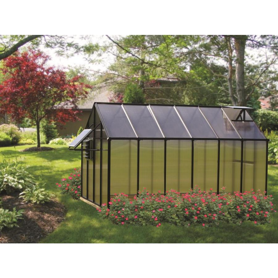 Monticello 12.2-ft L x 8.1-ft W x 7.6-ft H Greenhouse