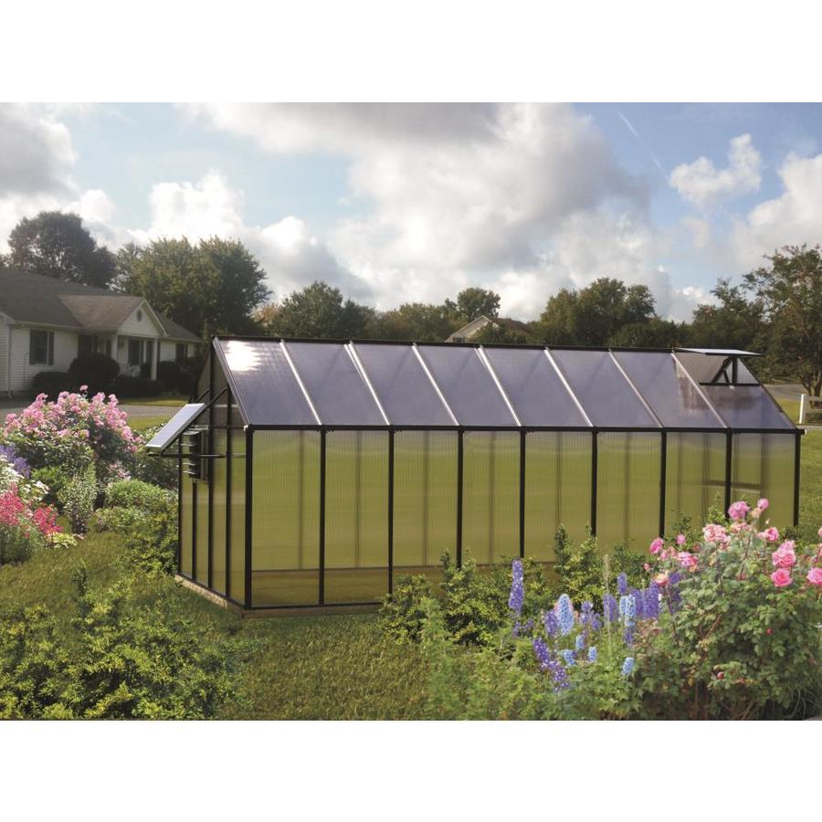Monticello 16.3-ft L x 8.1-ft W x 7.6-ft H Metal Polycarbonate Greenhouse