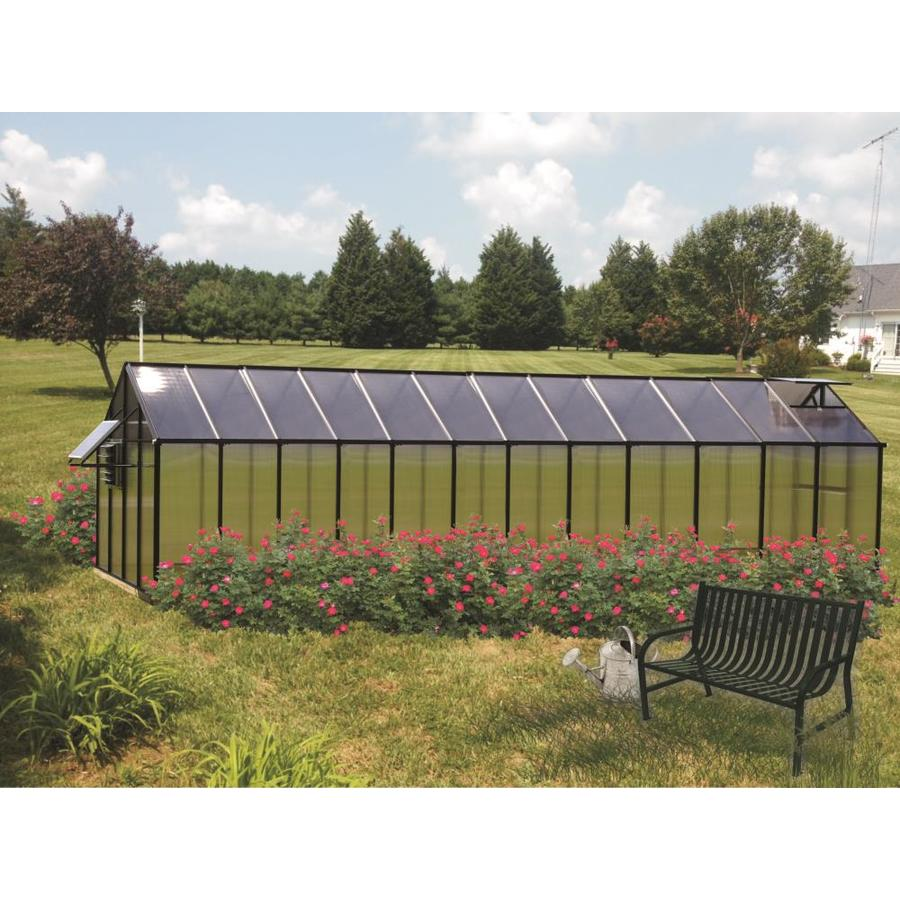 Monticello 24.5-ft L x 8.1-ft W x 7.6-ft H Metal Polycarbonate Greenhouse
