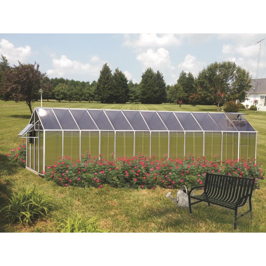 Monticello 24.5-ft L x 8.1-ft W x 7.6-ft H Metal Polycarbonate Greenhouse