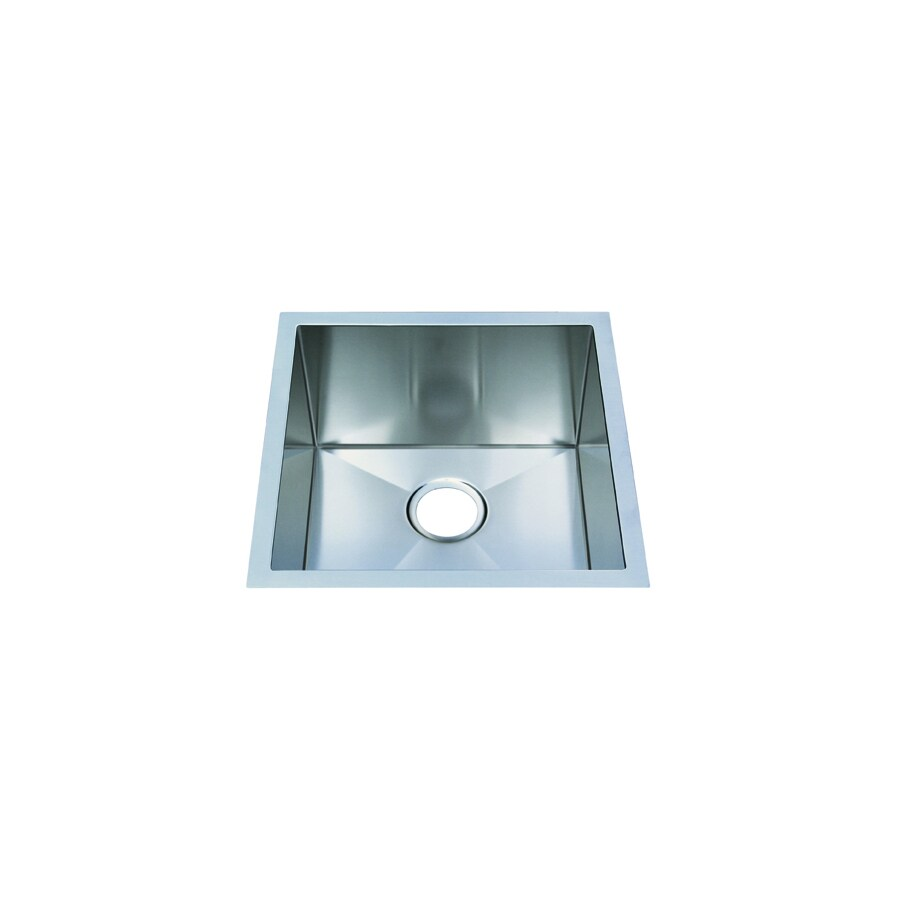 Frigidaire Frigidaire Gallery 18.5-in x 18.5-in Brushed Stainless Single-Basin Undermount Commercial/Residential Kitchen Sink