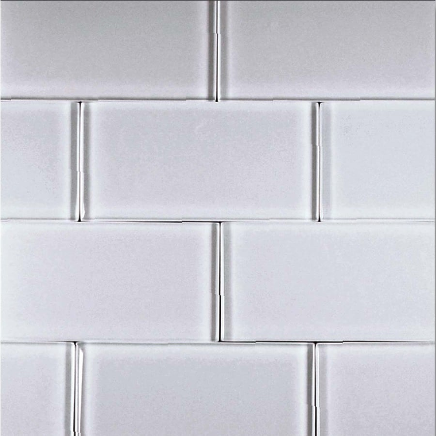 EPOCH Architectural Surfaces Alpinez 5-Pack Whites Subway Glass Wall Tile (Common: 12-in x 12-in; Actual: 2.99-in x 5.94-in)
