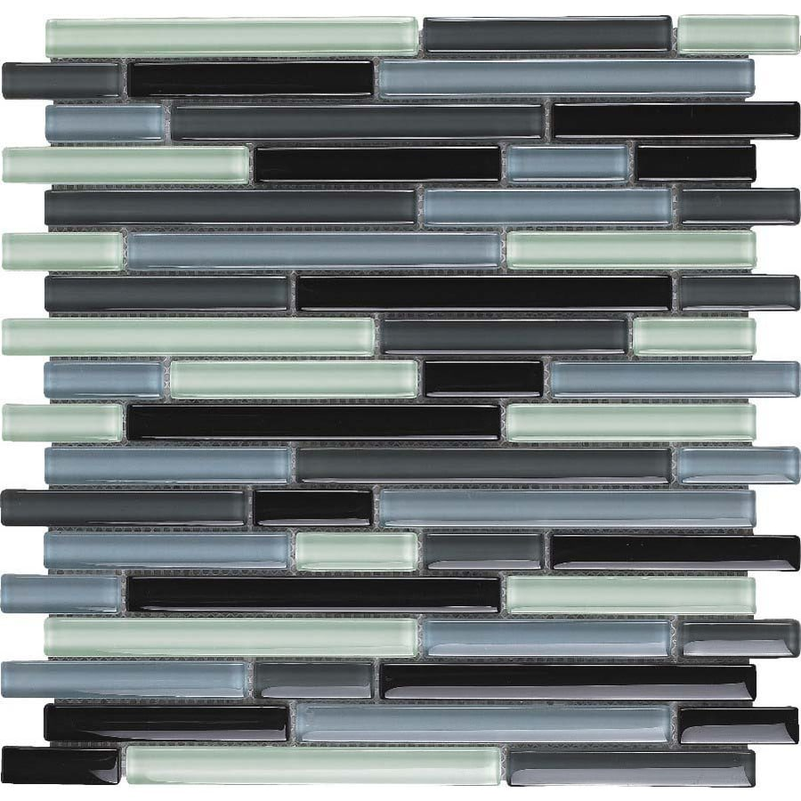 EPOCH Architectural Surfaces 5-Pack Color Blends Multi Glass Mosaic  Wall Tile (Common: 12-in x 12-in; Actual: 11.75-in x 11.87-in)