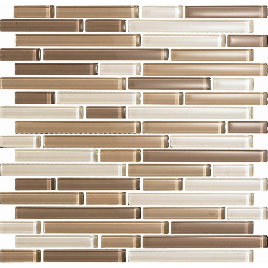 EPOCH Architectural Surfaces 5-Pack 12-in x 12-in Color Blends Brown Glass Mosaic Wall Tile (Actuals 12-in x 12-in)