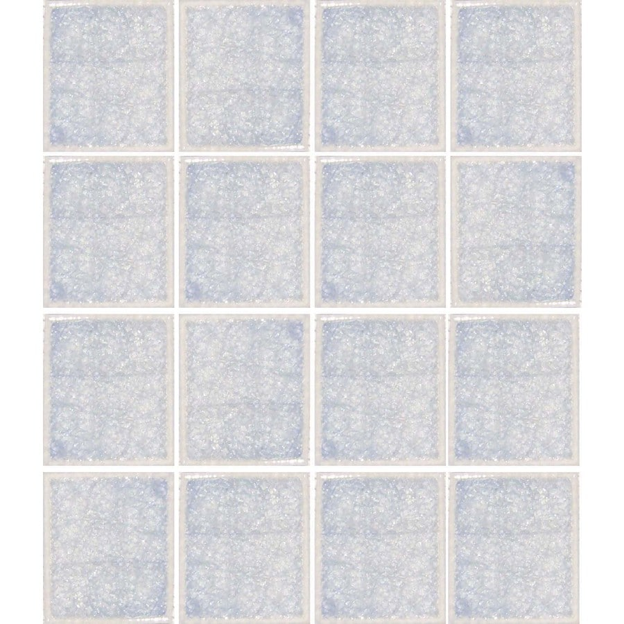 EPOCH Architectural Surfaces Desertz 5-Pack Whites Uniform Squares Mosaic Glass Wall Tile (Common: 12-in x 12-in; Actual: 12.4-in x 12.4-in)
