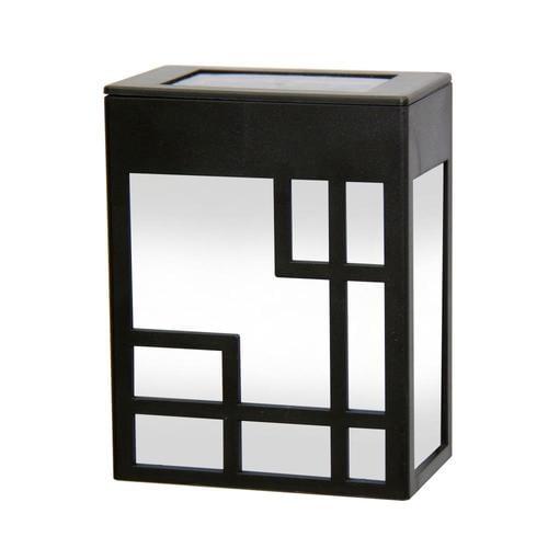 Deck Impressions 2-Pack Black Solar LED Step Light in the