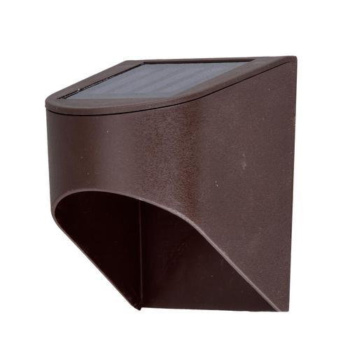 Deck Impressions 2-Pack Bronze Solar LED Step Light at