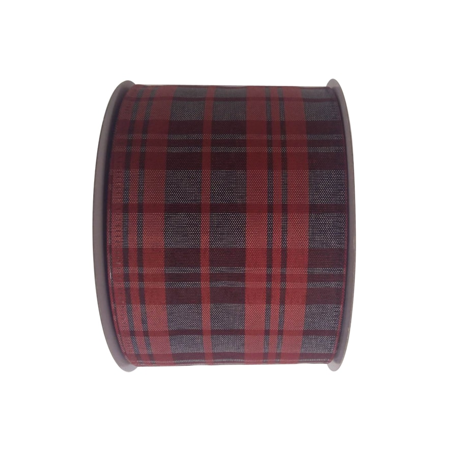 Holiday Living 2.5-in W x 30-ft L Multiple Plaid Ribbon