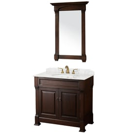 Wyndham Collection WC-TS36DKCH Andover 36-in. Single Bathroom Vanity Set