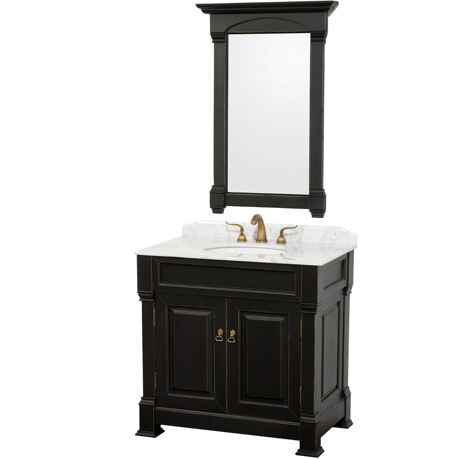 Shop Wyndham Collection Andover Black Undermount Single Sink Bathroom Vanity