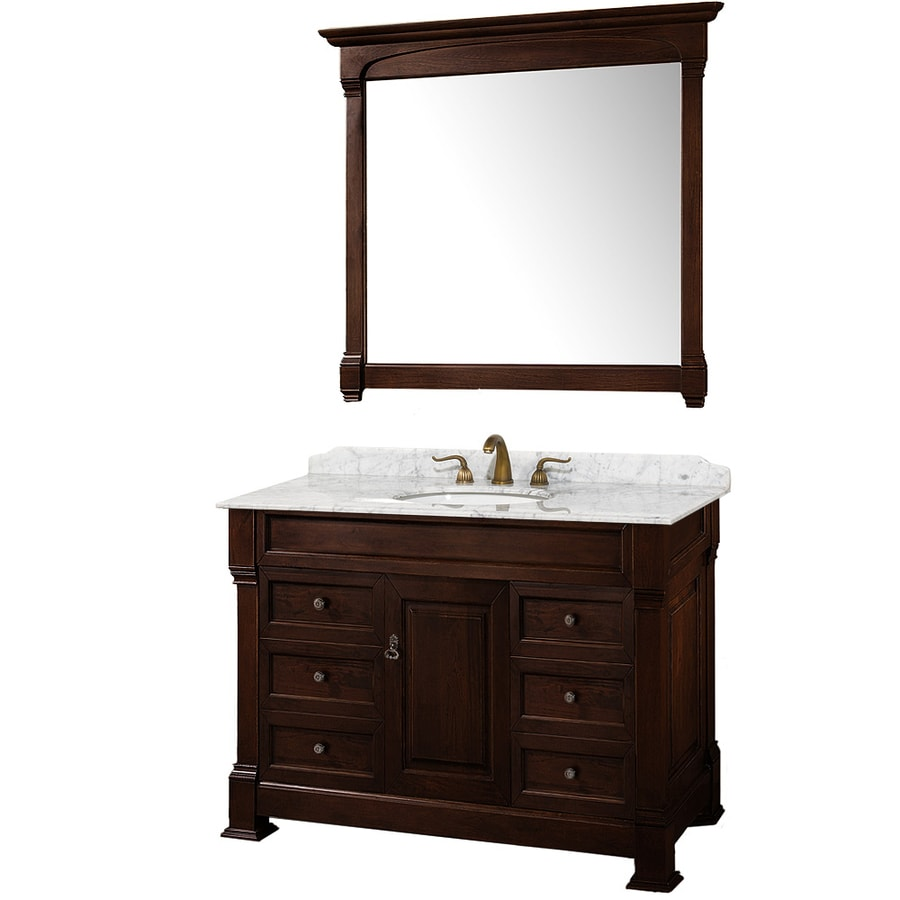Shop wyndham collection andover cherry undermount single for Single bathroom vanity