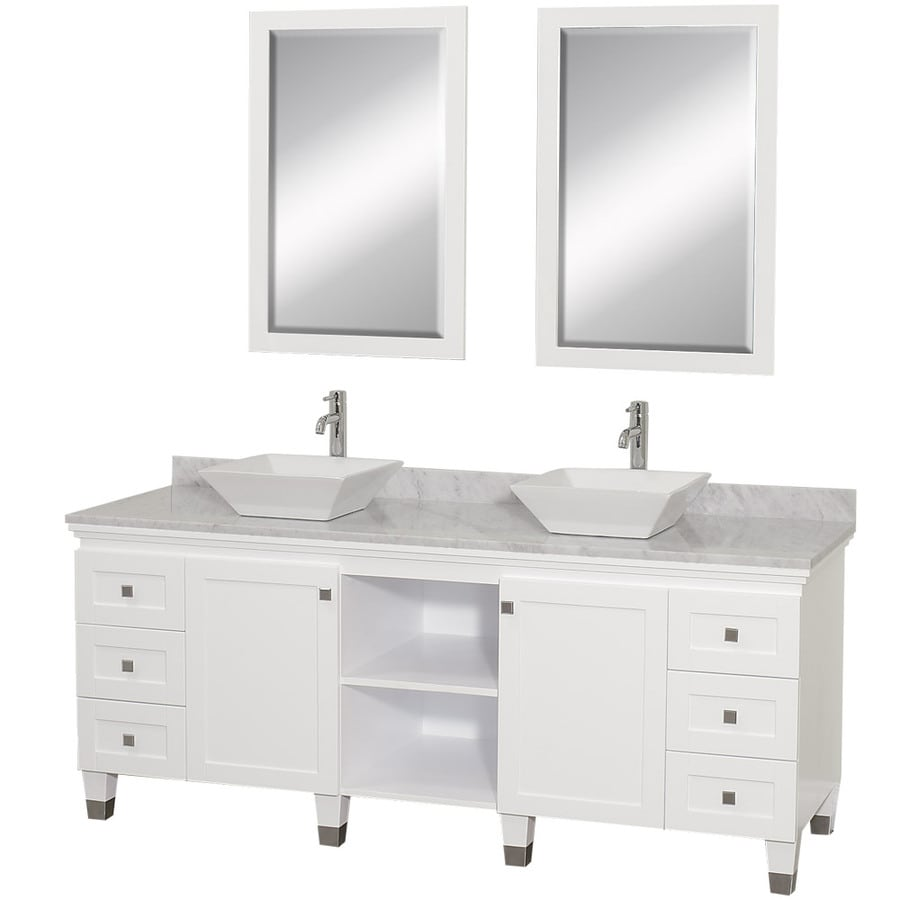 Wyndham collection premiere 72 in white double sink - 72 inch bathroom vanity double sink ...