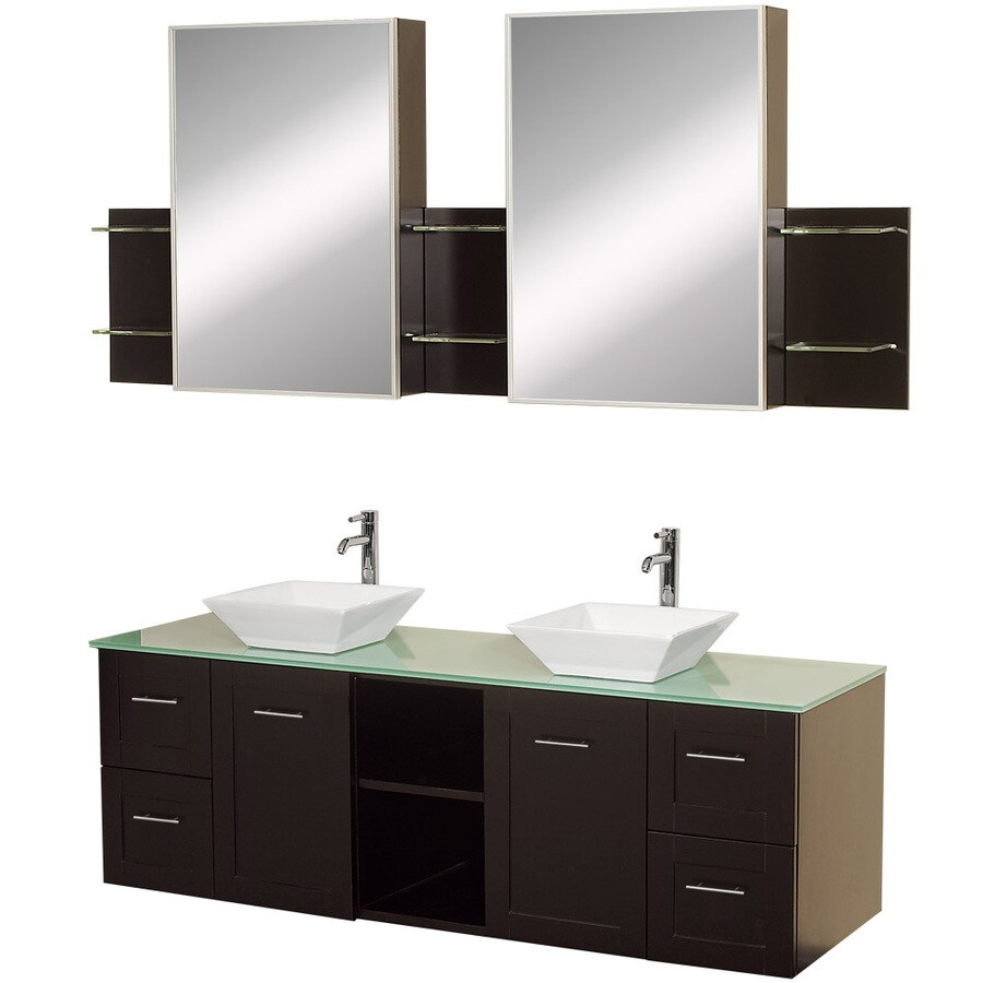 Wyndham Collection Avara 60 In Espresso Double Sink