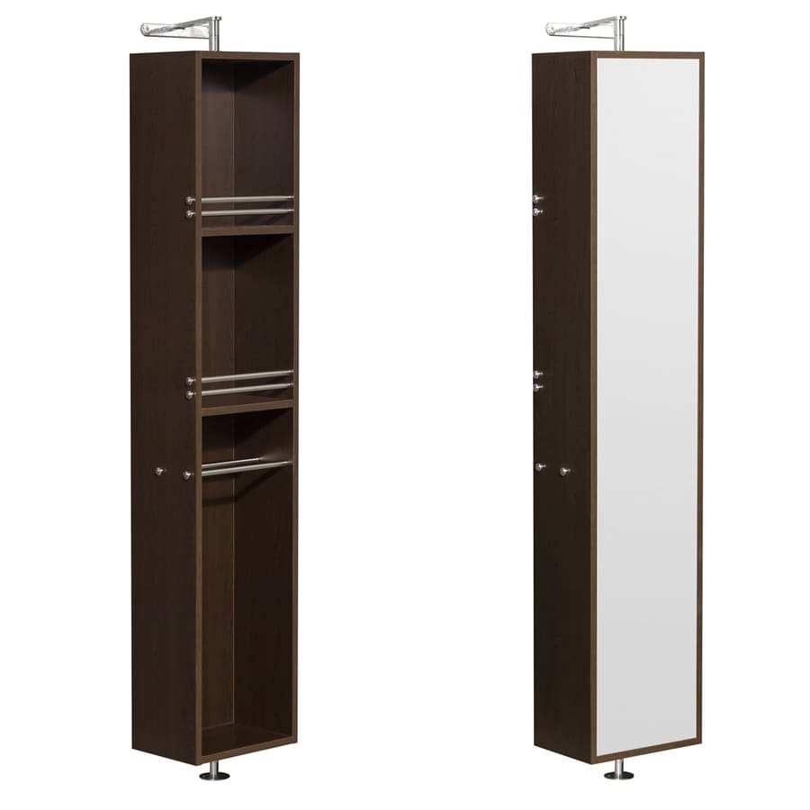 Wyndham Collection Amare 13.75-in W x 73-in H x 15-in D Espresso MDF Wall-Mount Linen Cabinet