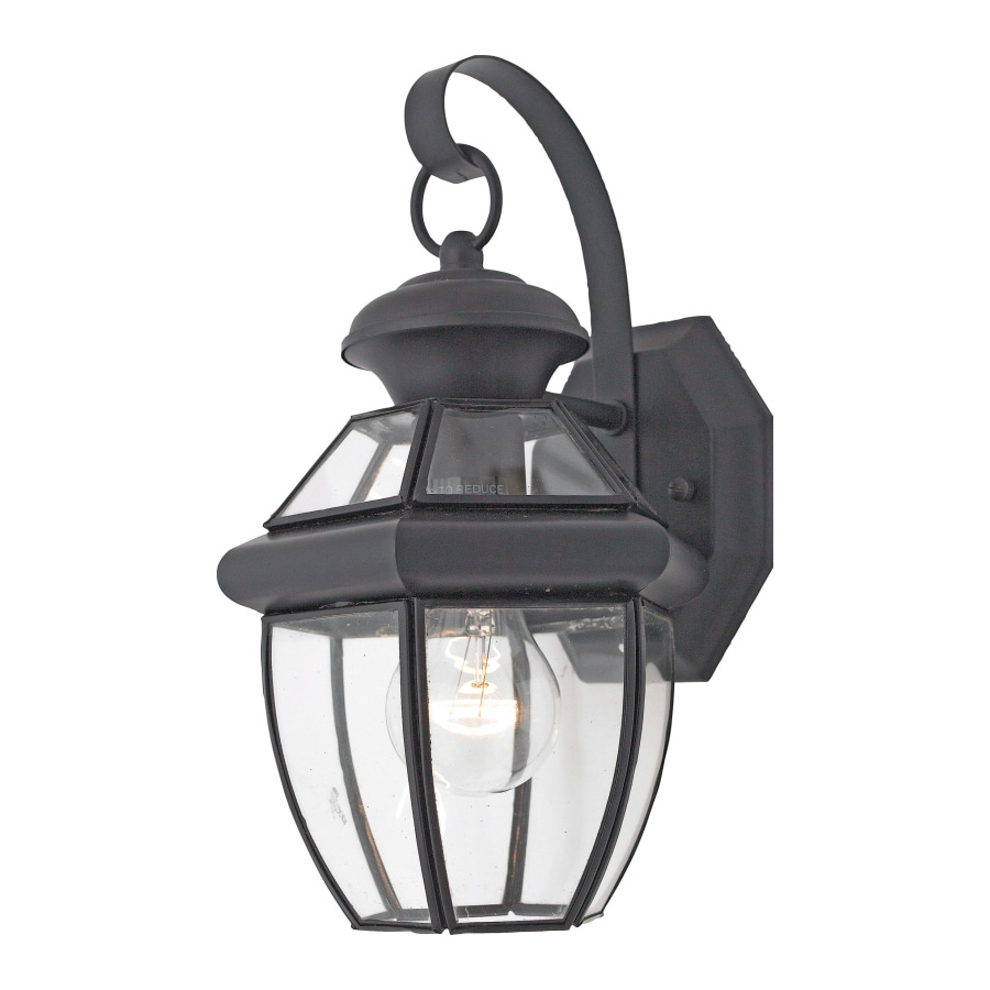 Natalia 8-in W 1-Light Mystic Black Pocket Wall Sconce