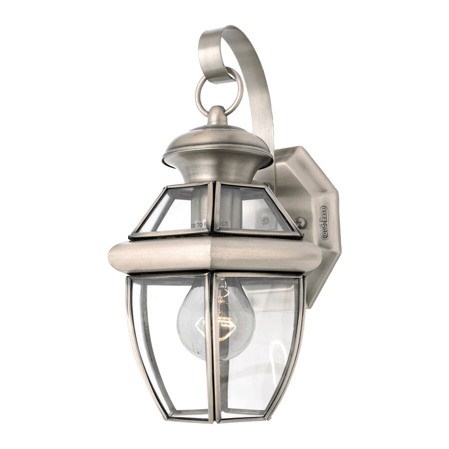 Natalia 8-in W 1-Light Pewter Pocket Hardwired Wall Sconce