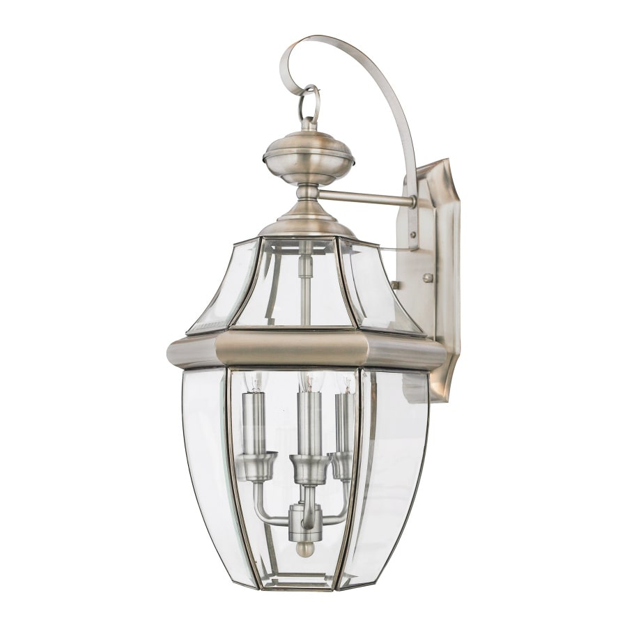 Natalia 14-in W 3-Light Pewter Pocket Hardwired Wall Sconce