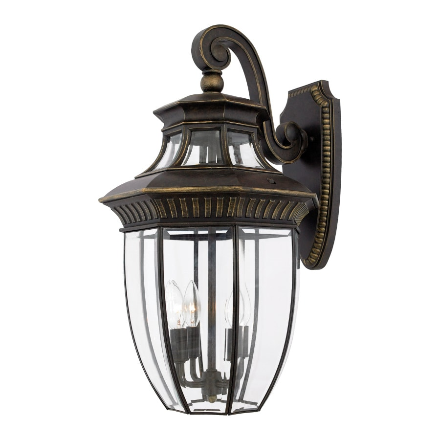 Natalia 18.5-in W 4-Light Imperial Bronze Pocket Hardwired Wall Sconce