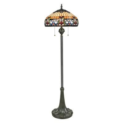 Quoizel Belle Fleur 62 In Vintage Bronze Floor Lamp At Lowes Com