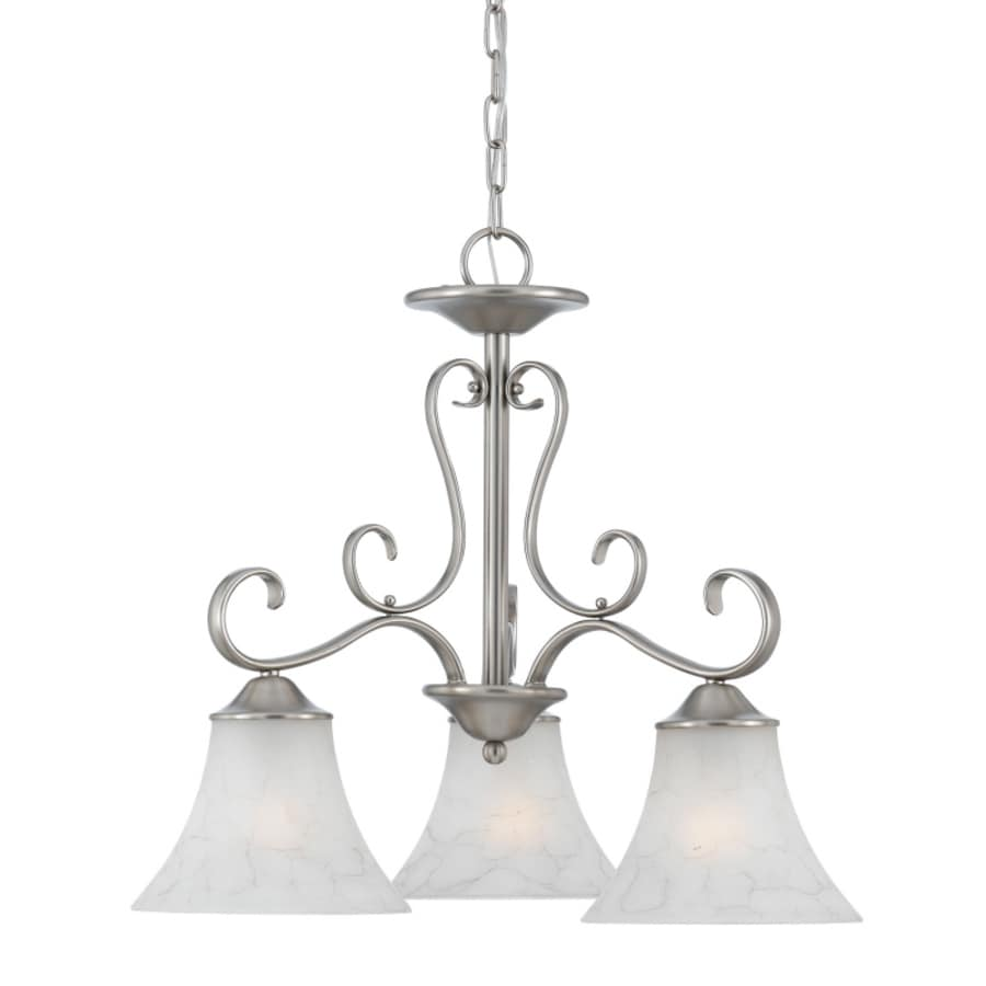Natalia 17-in 3-Light Antique Nickel Candle Mini Chandelier