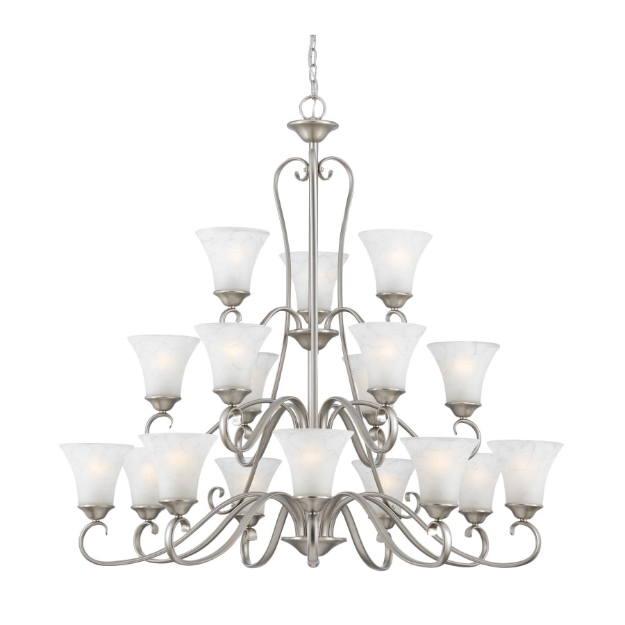 Natalia 40-in 18-Light Antique Nickel Tiered Chandelier