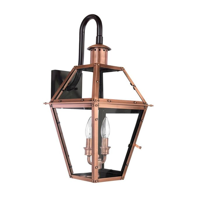 Quoizel Rue De Royal 22 In H Aged Copper Candelabra Base E 12 Outdoor Wall Light In The Outdoor Wall Lights Department At Lowes Com
