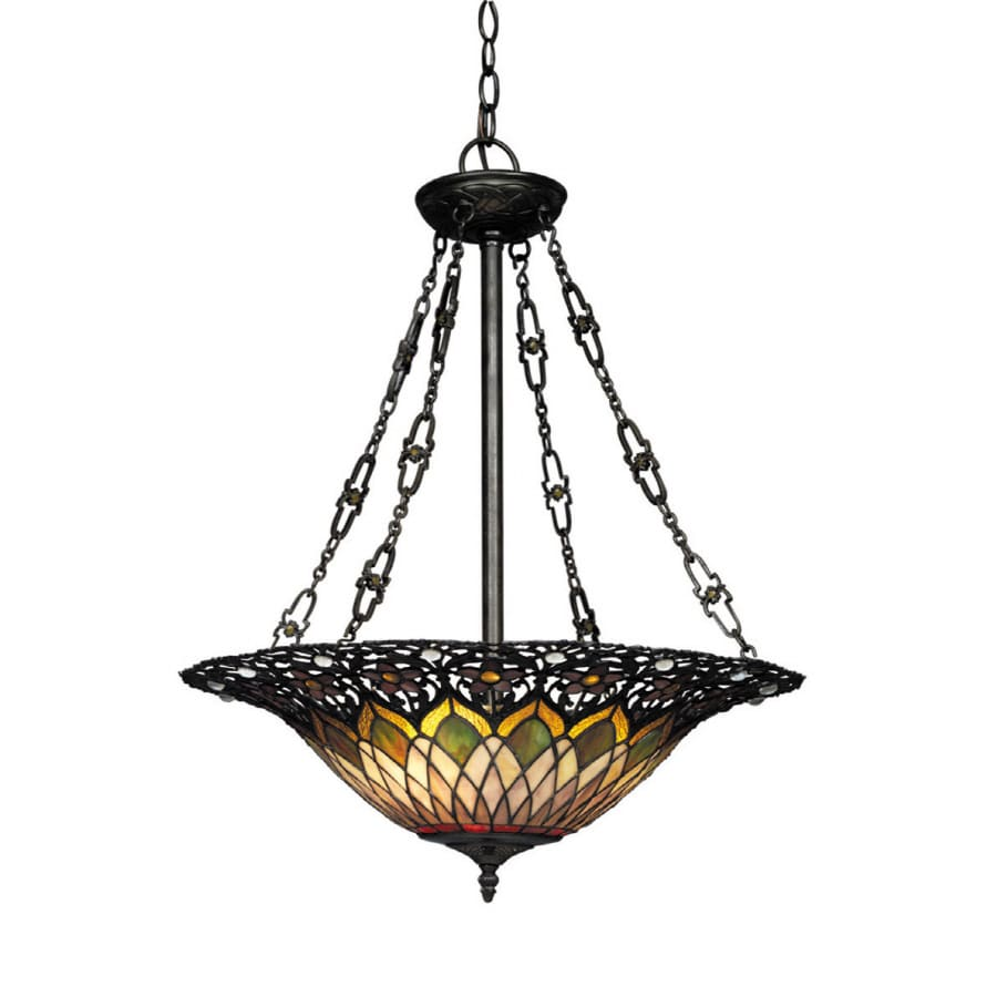 tiffany kitchen lights shop portfolio 22 in w 3 light bronze kitchen island light 2737