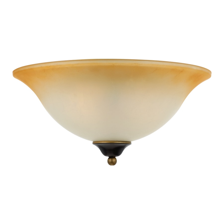 18-in W Palladian Bronze Flush Mount Light