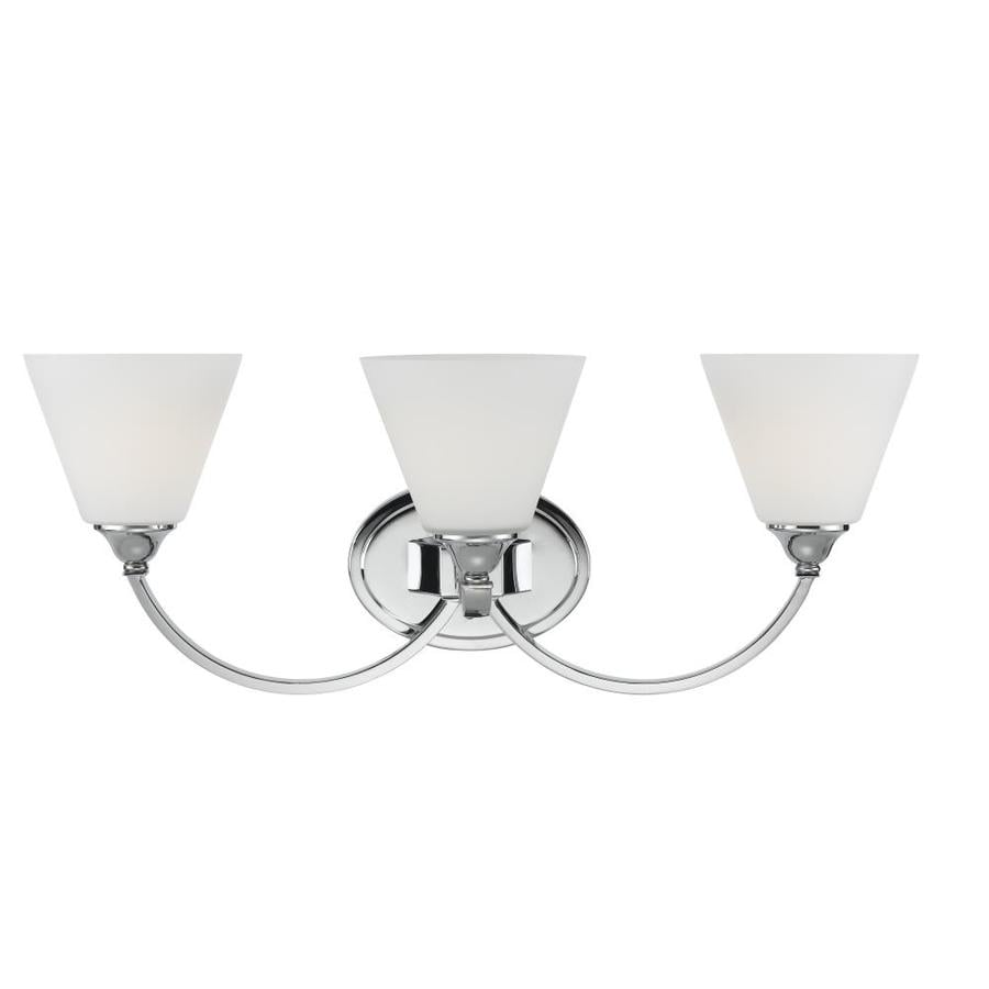 Portfolio Brandt 3-Light 10-in Polished Chrome Bell Vanity Light