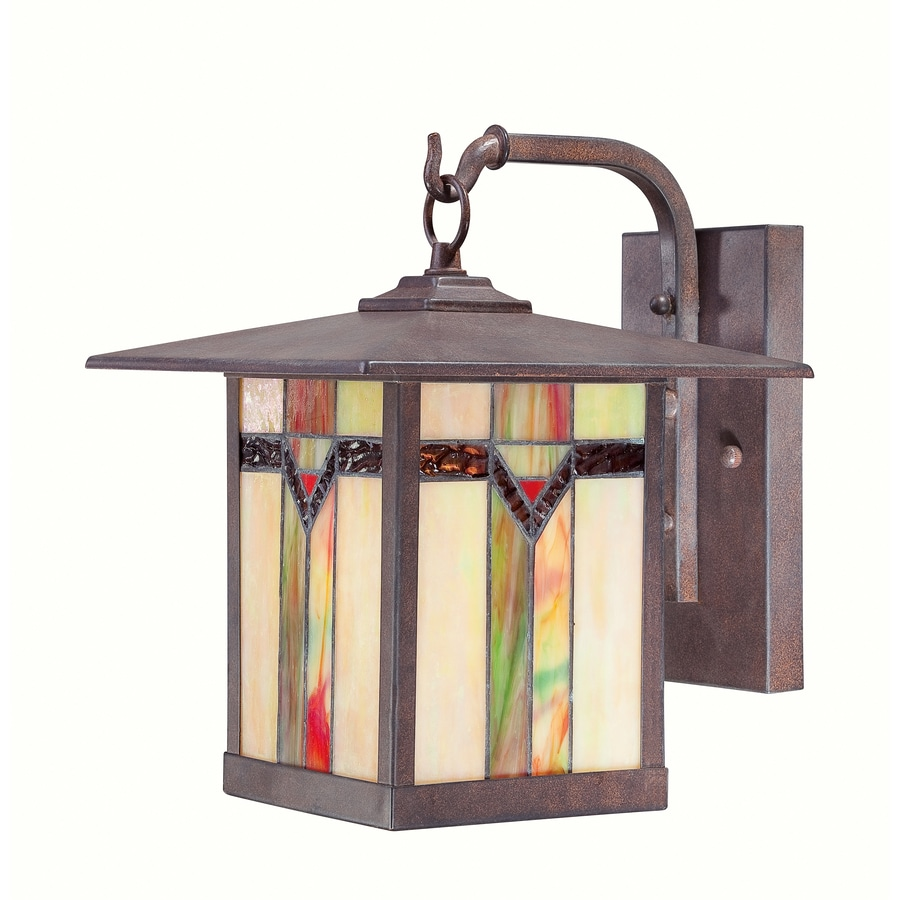 Shop outdoor wall lighting at lowes allen roth vistora 1175 in h bronze outdoor wall light aloadofball Choice Image