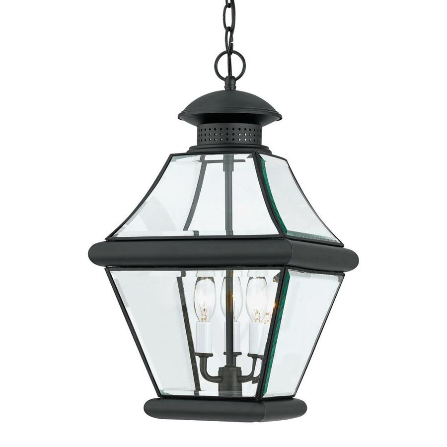 Natalia 14.5-in Mystic Black Outdoor Pendant Light