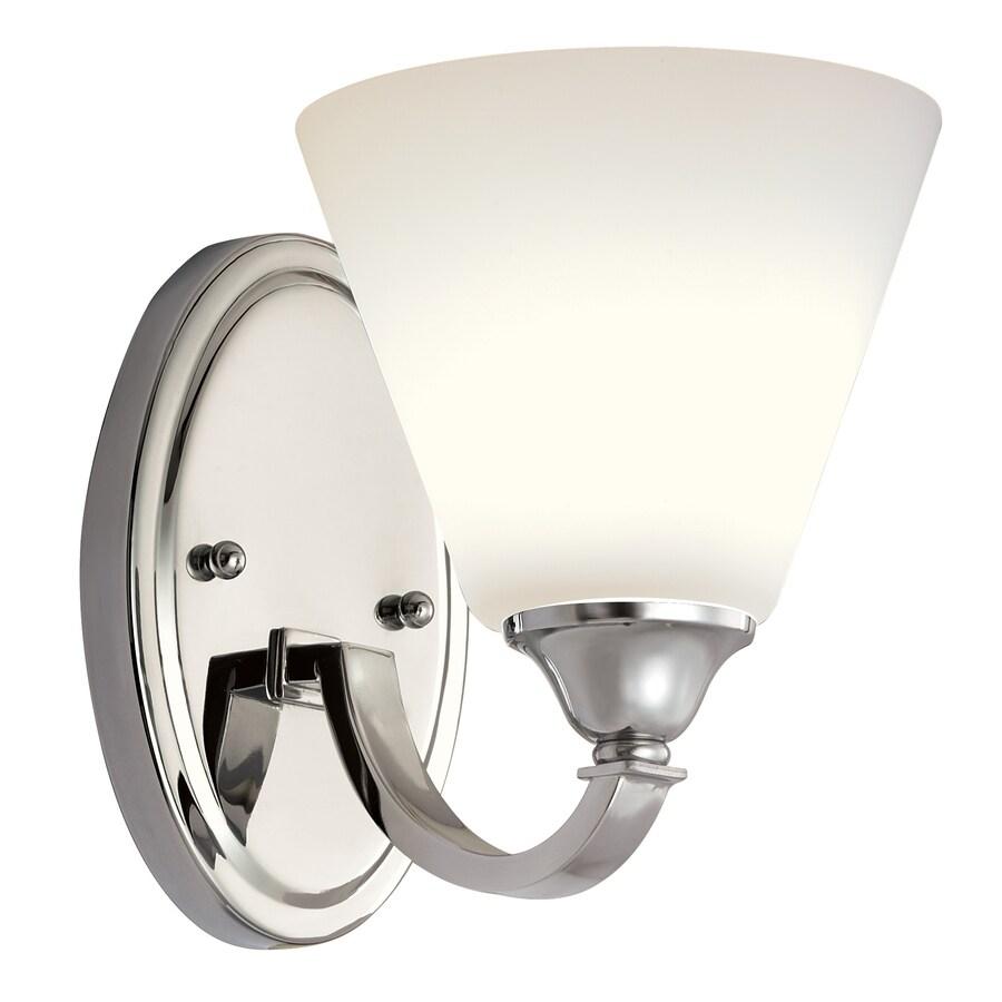 Portfolio Brandt 1-Light 7.5-in Polished Chrome Bell Vanity Light