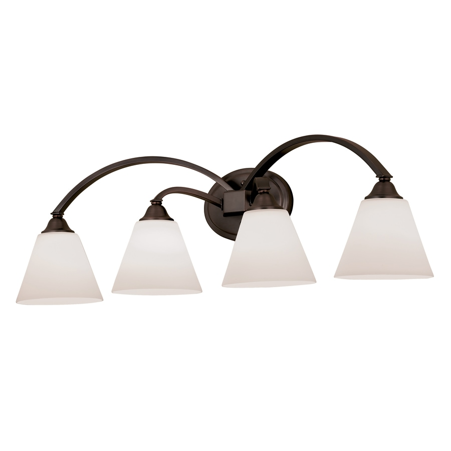Portfolio Brandt 4 Light Oil Rubbed Bronze Vanity Light