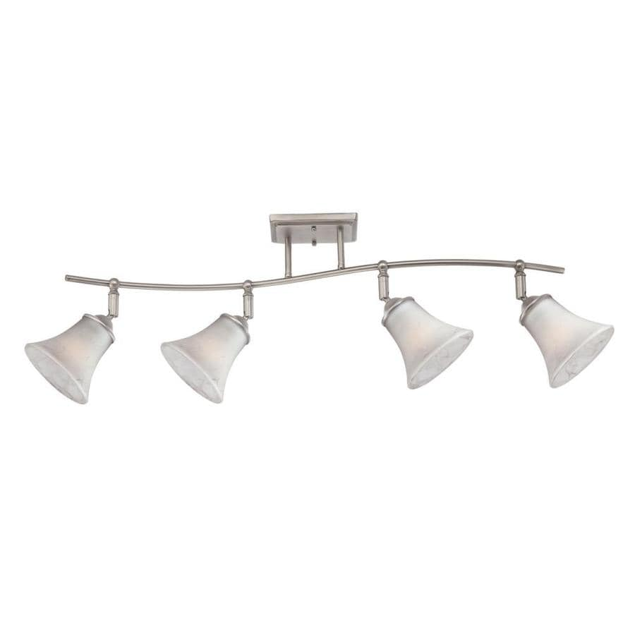 Natalia 4-Light 43-in Antique Nickel Roundback Linear Track Lighting Kit