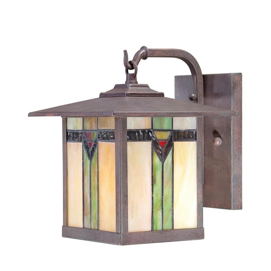 shop allen roth vistora 9 in h bronze outdoor wall light at lowes. Black Bedroom Furniture Sets. Home Design Ideas