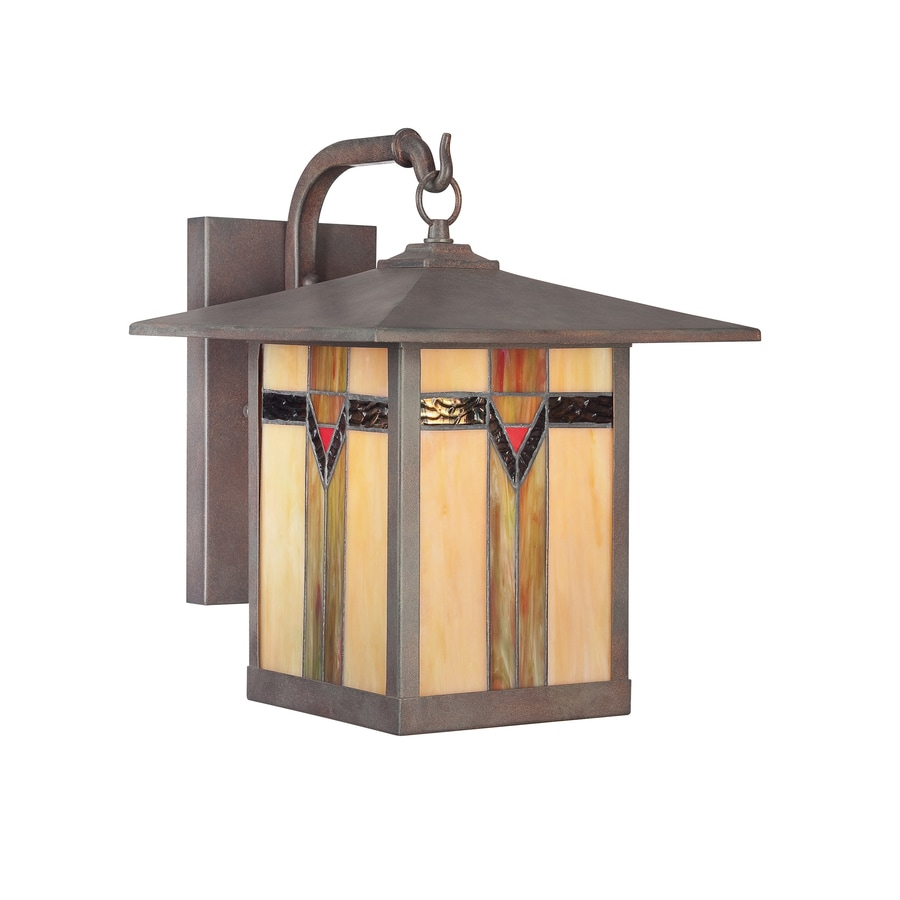 allen + roth Vistora 14.3-in H Bronze Outdoor Wall Light